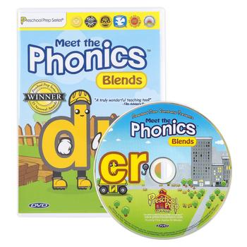 Preschool Prep Company, Meet the Phonics: Blends DVD, 65 Minutes, Grades PreK-1