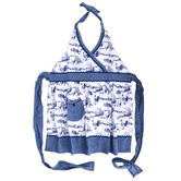 Kay Dee Designs, Blue Rooster Hostess Apron, Cotton, Blue and White, Adult Size
