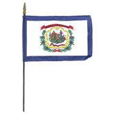 Annin Flagmakers, West Virginia State Flag, Polyester, 8 x 12 inches