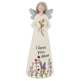 Blossom Bucket, I Love You Mom Angel, Resin, 2 x 5 inches