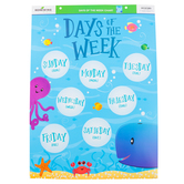 Renewing Minds, Days of the Week Chart, Sea Creatures, 17 x 22 Inches, 1 Each