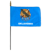 Annin Flagmakers, Oklahoma State Flag, Polyester, 8 x 12 inches