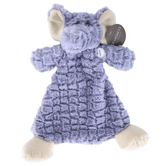 Demdaco, Cozies, Ellery Elephant Plush Rattle Blanket, Gray, 12 inches