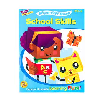 TREND, School Skills Wipe-Off Book, 28 Pages, Grades PreK-K