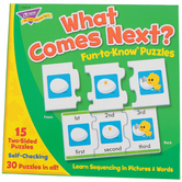 TREND enterprises, Inc., What Comes Next? Fun-to-Know Puzzles, 40 Pieces, Ages 3+