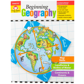 Evan-Moor, Beginning Geography Teacher Reproducibles, Paperback, 112 Pages, Grades K-2