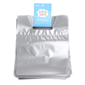 Bright Ideas, Zipper Bags with Handle, Silver, Translucent Plastic, 20 Count