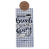 Kerusso, grace & truth®, Proverbs 26:17 Biscuits Tea Towel, Cotton, Blue and White, 18 x 28 inches