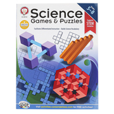 Carson-Dellosa, Science Games and Puzzles Resource Book, Reproducible, 96 Pages, Grades 5-8 and up