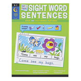 Creative Teaching Press, Cut and Paste Sight Words Sentences Workbook, Paperback, 119 Pages, Grades K-1