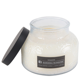 Darsee & David's, Gardenia Blossoms Jar Candle, White and Black, 18 ounces