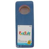 Playside Creations, Foam Door Hangers, 3.75 x 9.75 Inches, Assorted Colors, Pack of 10