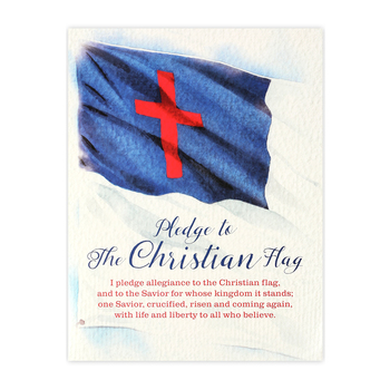Renewing Minds, Pledge to the Christian Flag Chart, Multi-Colored, 17 x 22 Inches, 1 Each