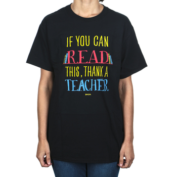 Kerusso, If You Can Read This Thank A Teacher Short Sleeve T-shirt, Black, Multiple Sizes Available