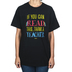 Kerusso, If You Can Read This Thank A Teacher Short Sleeve T-shirt, Black, Small