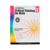 Spectrum, Critical Thinking for Math Workbook, 128 Pages, Grade 6