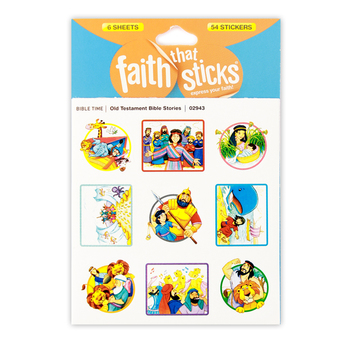 Tyndale, Faith That Sticks, Old Testament Bible Stories Stickers, Package of 54
