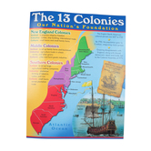 TREND, The 13 Colonies Chart, 17 x 22 Inches, Multi-Colored, 1 Piece