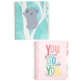 Carolina Pad, Gday Sunshine 5-Subject Notebook, 150 Sheets, 8 1/2 x 11 inches