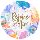 Renewing Faith, Faith & Fellowship Psalm 33:21 Paper Plates, Large, Watercolor, 10 1/2 Inches, Pack of 20