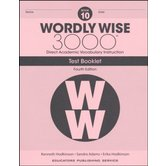 Wordly Wise 3000 4th Edition Test Booklet 10, Paperback, Grade 10