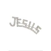 Bella Grace, Jesus Rhinestone Brooch, Zinc Alloy, Silver, 2 inches