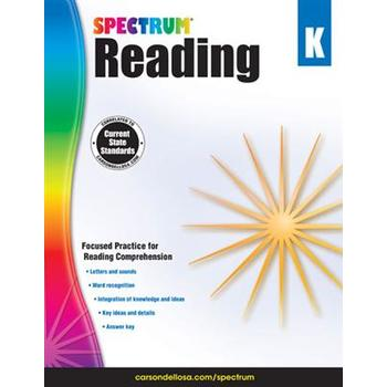 Carson-Dellosa, Spectrum Reading Workbook Grade K, Paperback, 166 Pages, Ages 5-6