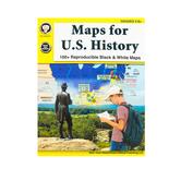 Carson Dellosa, Maps for U. S. History Resource Book, Grades 5-8, Paperback
