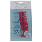 DCWV, Celebration Letterboard Word Pack, Plastic, Light Blue and Coral, 4 Words