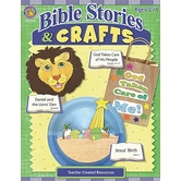 Teacher Created Resources, Bible Stories and Crafts, Reproducible Paperback, 144 Pages, Ages 7-11