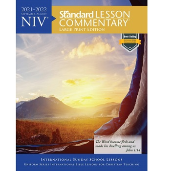 NIV Standard Lesson Commentary 2021-2022: Large Print Edition, by David C Cook, Paperback
