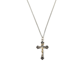 H.J. Sherman, Gold and Silver Tone Crucifix Necklace, 18 inches