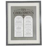 Renewing Faith, Ten Commandments Framed Wall Decor, Black, 16 x 20 inches