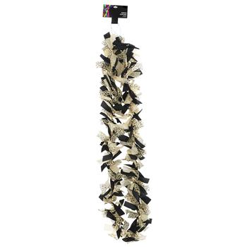 Brother Sister Design Studio, Leopard Print Tie Ribbon Garland, 6 Feet