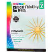 Spectrum, Critical Thinking for Math Workbook, 128 Pages, Grade 2