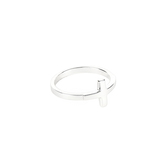 Dicksons, Horizontal Cross, Women's Ring, Silver Plated, Sizes 6-9