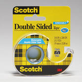 Scotch, Removable Double Sided Tape in Dispenser, .75 x 200 Inches, Clear, 1 Roll
