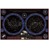 Round World Products, Wonders of the Constellations Laminated Wall Chart, 59 x 38 Inches