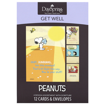 DaySpring, Peanuts Get Well Cards, 12 Cards