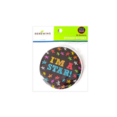 Chalk Talk Collection, I'm A Star! Sticker Badges, 3 Inches, Multi-Colored Stars & Text, Pack of 36