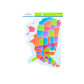 Renewing Minds, U. S. Map Notepad, 5.7 x 8 inches, 50 Count