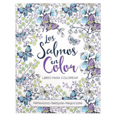 Christian Art Gifts, La Salmos En Color Coloring Book for Adults, 62 Designs