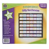 Teacher Created Resource, Silly Sentences Pocket Chart Cards, 138 Pieces, Grades 1-4