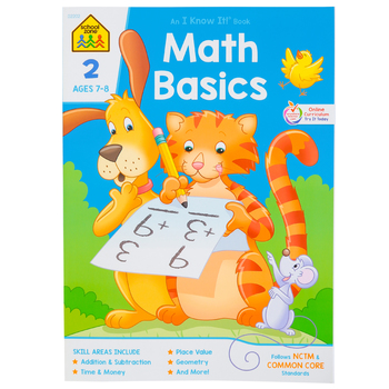 School Zone, Math Basics 2 Deluxe Edition Workbook, Paperback, 59 Pages, Grade 2