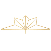 The Lang Companies, Geo Calendar Hanger, Gold-tone, 14 1/4 x 6 1/4 inches