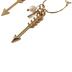 Modern Grace, Hoop with Pearl, Arrow, Believe Charms Dangle Earrings, Zinc Alloy, Gold