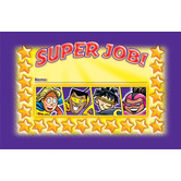 North Star Teacher Resources, Superheroes Punch Cards, 4 x 2.5 Inches, Multi-Colored, Pack of 36