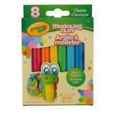 Crayola, Classic Modeling Clay, Assorted Colors, 8 Pieces, 4.8 Ounces, Ages 4   and up