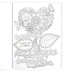 Christian Art Gifts, Where Love Blooms Adult Coloring Book, 11 x 8 1/2 inches, 128 pages