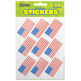 Eureka, U.S. Flags Giant Stickers, 1 5/16 X 1 3/4 Inches, Pack of 36